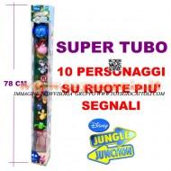 SUPER TUBO 10 PERSONAGGI SU RUOTA IN GIRO PER LA GIUNGLA DISNEY JUNGLE JUNCTION