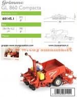 ROS-AGRITEK 601451 SCALA 1/32 SEMINATRICE PATATE GRIMME GL 860 COMPACTA