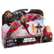 DreamWorks Dragons, Dragon Riders,Hiccup & Toothless Figures With Racing Stripe dragons trainer