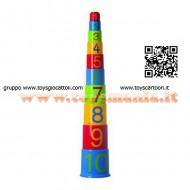 Piramide in plastica con Numeri 10 pezzi Gowi [9002289453318]