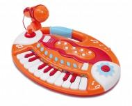 Bontempi BK 1825 - Tastierina Da Tavolo 18 Tasti Con Microfono
