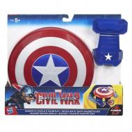 Captain America - Scudo Base con guanto magnetico B5782 di Hasbro
