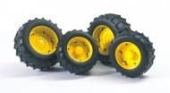 Bruder 02321 Ruote gialle per trattori TOP Profi serie 02012[ cod 02321 ]