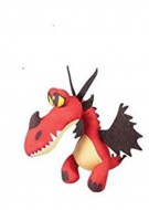 PELUCHE DRAGONS TRAINER DRAGO ROSSO 30 CM