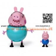 Giochi Preziosi - Peppa Pig, Coppia Personaggi con Papà  COD CCP 01470