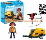 PLAYMOBIL 5472 OPERAIO CON MARTELLO PNEUMATICO City Action - Construction Worker with Jack Hammer - 5472