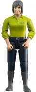 Bruder Donna, Pelle Chiara, con Jeans Blu Scuro 60405