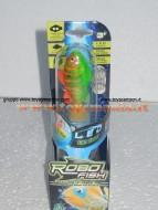 Robo fish led con luce , pesce verde 02292