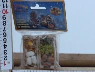 Cassette da decoro nel presepe con verdura per il banco della verdura cod 123