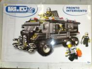 COSTRUZIONI TIPO LEGO A RETROCARICA AUTO PRONTO INTERVENTO  PRI.CO 410 PZ ADATTO A CHI VUOLE FAR PERDERE TEMPO AL BAMBINO TENENDOLO IMPEGNATO