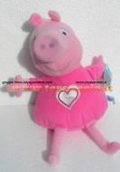 PELUCHE PEPPA PIG !! PUPAZZO PEPPA ( MIS 5 ) IN PIGIAMA CM 40 CIRCA !!