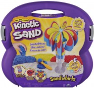 Kinetic Sand Set Valigetta Cascate Arcobaleno, 907Gr di Sabbia In 3 Colori,Spin Master 6055859