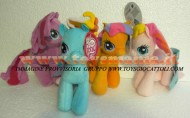 MY LITTLE PONY OFFERTA 4 PELUCHE !! MIO MINI PONY SET FORMATO DA 4 PUPAZZI DA 20 CM : RAINBOW DASH , PINKIE PIE , SCOOTALOO , TOOLA ROOLA !!!
