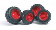 Bruder 02322 Ruote rosse per trattori SUPER-PRO serei 02013 [ cod 02322 ]