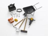 BRUDER bworld accessori per la costruzione bworld attrezzi lavori stradali [cod 62001]
