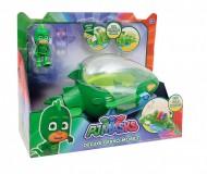 Super Pigiamini Pj Masks Veicolo Gecomobile con Luci e Suoni, Personaggio Geco Incluso di Giochi Preziosi PJM10000