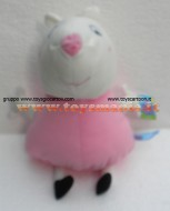 PELUCHE PEPPA PIG !! PUPAZZO SUSY PECORA ( MIS 5 )  CM 40 CIRCA !!FINE SERIE