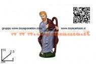 statuina da presepe personaggio giuseppe in plastica economica 8033113056505