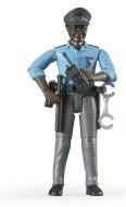 Bruder  poliziotto pelle scura con accessori 60051