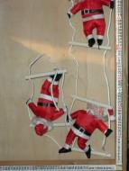 DUE ESSE CHRISTMAS 3 BABBI NATALE IN STOFFA ADATTO PER USO ESTERNO -INTERNO LUNGHI CIRCA 100 CM CON SCALETTA COD A 33