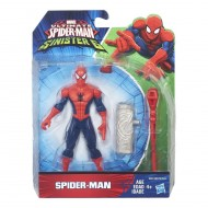 Marvel Ultimate Spider-Man vs Sinister 6 - Spiderman 15 cm + Lanciarazzi e Proiettile B5874-B5758
