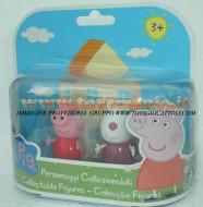 PEPPA PIG BLISTER 2 PERSONAGGI FORMATO DA PEPPA PIG E SUSY SHEEP , SUSY PECORA COD 04430