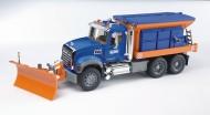 !!BRUDER!!!!! I NUOVI CAMION AMERICANI Bruder MACK Granite camion spargisale e spazzaneve [ cod 02816 ]