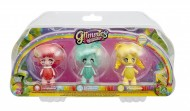 Giochi Preziosi - Glimmies Rainbow Friends Blister Triplo, Honeymia, Conexia e Loupiana