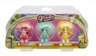Giochi Preziosi - Glimmies Rainbow Friends Blister Triplo, Honeymia, Conexia e Loupiana