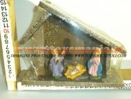 Millenium Christmas capanna con natività  per presepe 520 ABBIAMO ANCHE CAPANNE GRANDI CIRCA 35 CM per PRESEPE IN STOCK da finire 40 PEZZI A 80 EURO CONTATTACI 3472436446