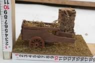 Millenium Christmas presepe ambientazione con carretto/carro contadino