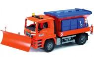 BRUDER POINT Camion Spargisale Spazzaneve  BRUDER - MAN SPARGISALE C/SPAZZANEVE COD 02767