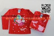 T-shirt Peppa Pig la fatina del dentino- Manica lunga colore rosso