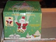 DUE ESSE CHRISTMAS  BABBO NATALE IN STOFFA con paracadute da decorare casa e negozi cod A54