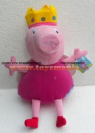PELUCHE PEPPA PIG !! PUPAZZO PEPPA ( MIS 5 ) VESTITA DA PRINCIPESSA DELLE FATE CM 40 CIRCA !!