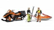 BRUDER B World Motoslitta con figura. slitta soccorso e sciatore (2015) 63100