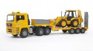 GIOCATTOLI  BRUDER 02776  NOVITA'!!!!!!! Bruder camion MAN TGA bilico con scavatore JCB 4CX Backhoe [ cod 02776 ]