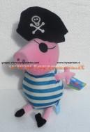 PELUCHE PEPPA PIG !! PUPAZZO GEORGE ( MIS 5 ) VESTITO DA PIRATA CM 40 CIRCA !! FINE SERIE!!