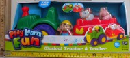 ODS Play Learn Fun, trattore con rimorchio