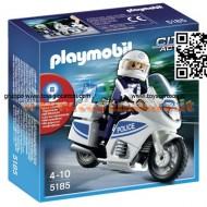 PLAYMOBIL 5185 MOTOCICLETTA POLIZIA CON LUCI INTERMITTENTI