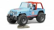 Jeep Cross Country Race blu con Pilota, Bruder 02541