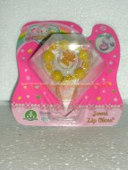 JEWELPET !!!!! JEWEL LIP GLOSS !!!!BRACCIALETTO COLOR GIALLO CON JEWELPET E 1 LIP GLOSS COD 12243