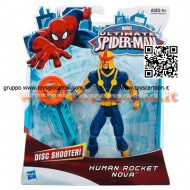 SUPEREROI NOVA IL RAZZO UMANO Hasbro MARVEL Ultimate Spider-man Human Rocket Nova Action Figure