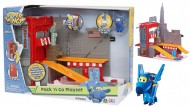 SUPER WINGS - Super Wings Playset Pack & Go Avventura a New York con Un Personaggio jerome