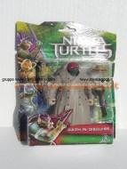 Nuovi personaggi tartarughe ninja tratto dal film in uscita a Settembre ! Personaggio Raffaello in incognito ( in disguise ) cm 10 ninja turtles cod. 90850 Giochi Preziosi