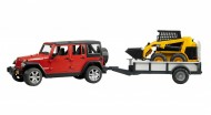 Jepp Wrangler Unlimited Rubicon con rimorchio e CAT 02925
