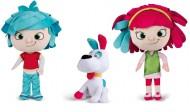 Peluche YoYo Ragoo - Peluche Yo-She - Peluche Yo-He con altezze personaggi 35 cm circa - cagnolino con orecchie 25 cm offerta 3 pezzi come foto