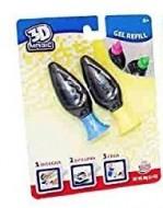 Ricarica 2 Pezzi per 3D Maker il Tuo Laboratorio 3D, giallo e blu di Grandi Giochi GG00148