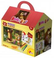 Lisciani - Masha e Orso Puzzle Casetta, 35 Pezzi