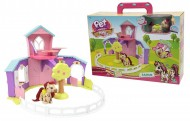 Pet Parade Pony Playset Ranch con Pony Esclusivo e Accessori di Giochi Preziosi PTN03000